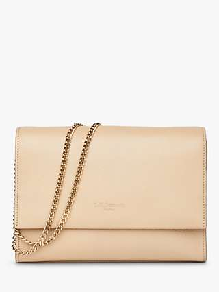 L.K.Bennett Marcella Flap Over Leather Clutch Bag