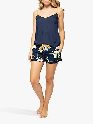 Cyberjammies Alexa Floral Print Camisole And Shorts Pyjama Set, Navy