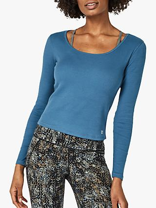 Sweaty Betty Tadasana Yoga Top, Stellar Blue