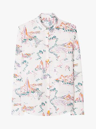 Paul Smith Mountain Print Long Sleeved Shirt, Lilac/Multi