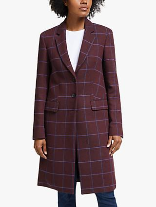 PS Paul Smith Single Breasted Coat, Purple