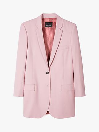 PS Paul Smith Long Single Breasted Wool Blazer Jacket, Lilac