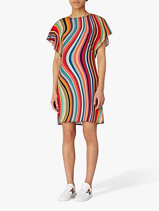 PS Paul Smith Swirl Print Silk Dress, Multi