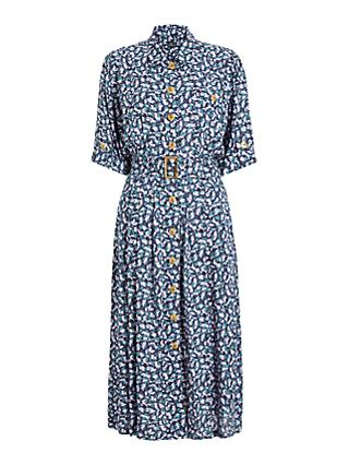 PS Paul Smith Printed Shirt Dress, Blue