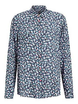 Paul Smith Printed Long Sleeved Shirt, Blue