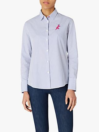 PS Paul Smith Dino Stripe Shirt, White/Blue
