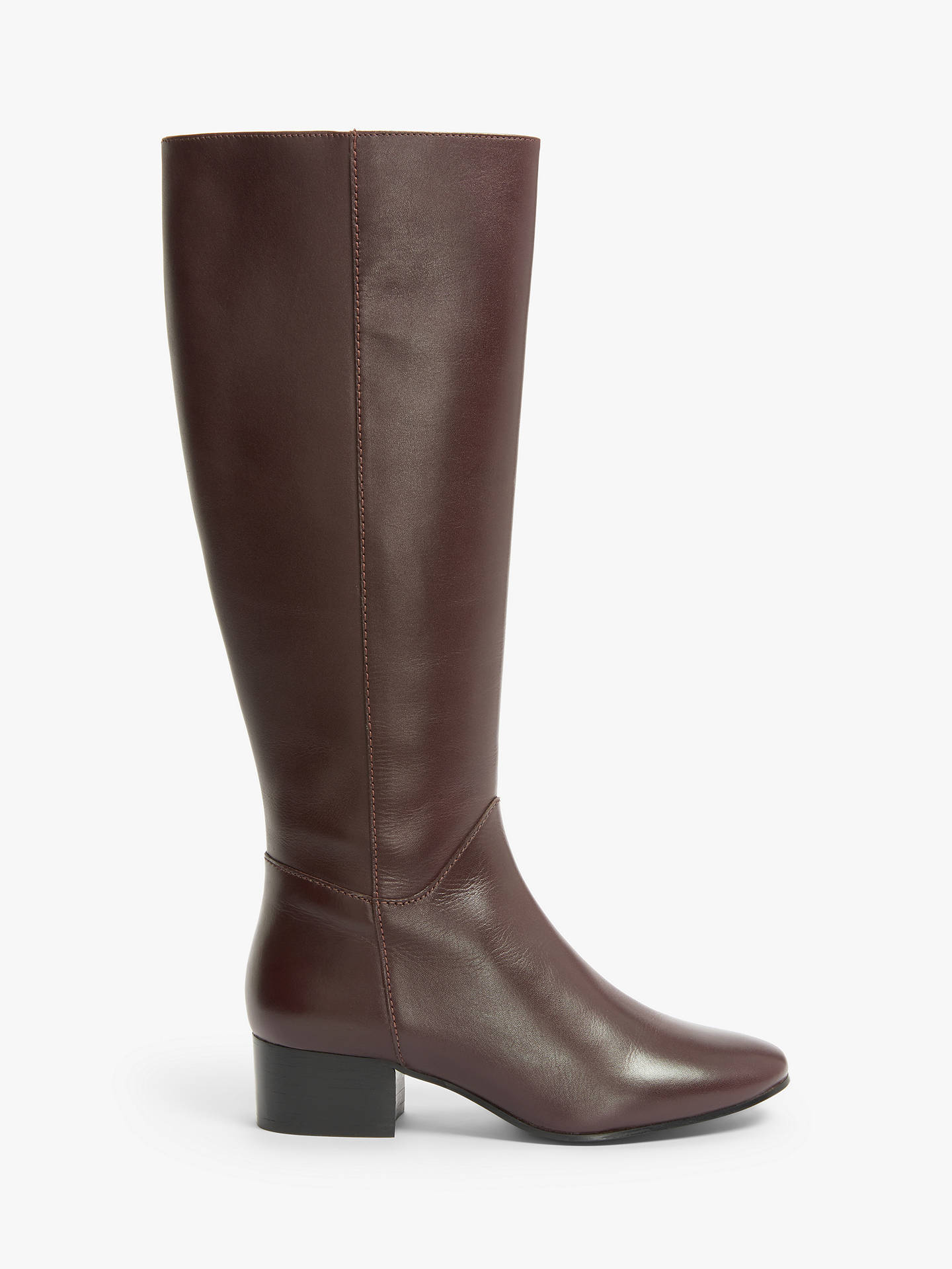 Buy Kin Tammi Leather Knee Boots, Red, 4 Online at johnlewis.com