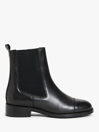 Kin Perry Leather Chelsea Boots, Black
