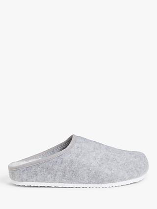 John Lewis & Partners Footbed Mule Slippers, Grey