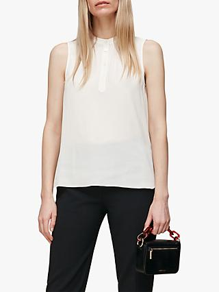 Whistles Textured Sleeveless Top, Ivory