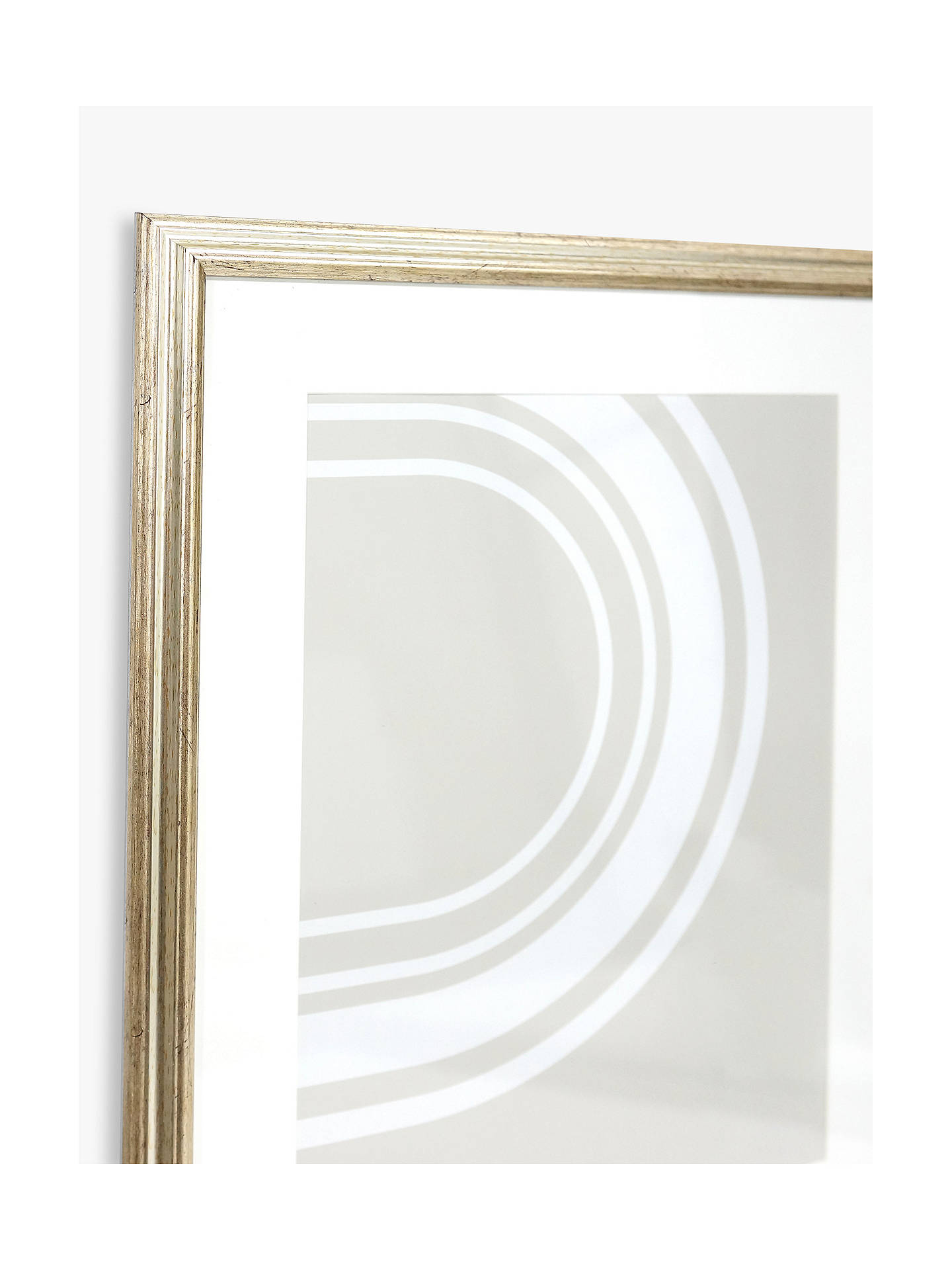 Buy John Lewis & Partners Ribbed Poster Frame & Mount, Champagne, A2 (42 x 60cm) Online at johnlewis.com