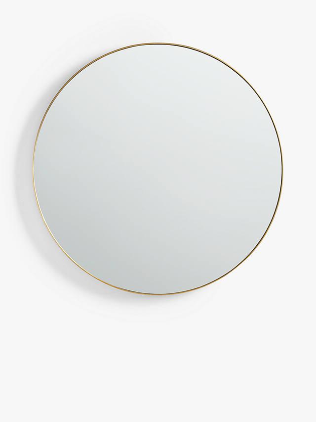 John Lewis Partners Round Metal Frame, Round Silver Wall Mirror Metal