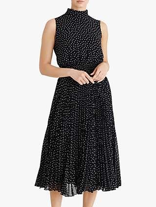 Fenn Wright Manson Dorothee Spotted Midi Dress, Navy/Spots