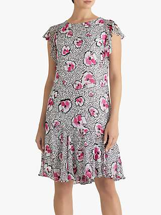 Fenn Wright Manson Oti Floral Print Mini Dress, Pink Petunia