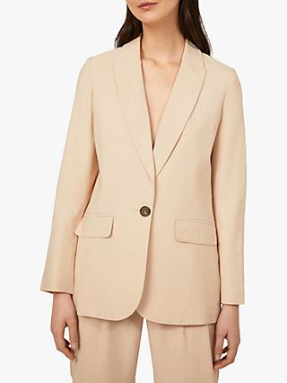 Warehouse Relaxed Oversized Single Button Blazer