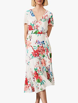 Phase Eight Evadine Floral Dress, White/Multi