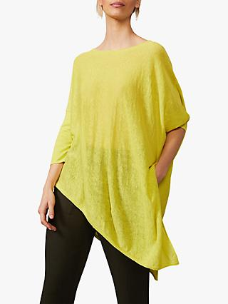 Phase Eight Melinda Linen Top, Lime