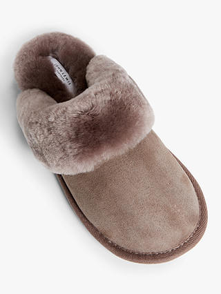 Buy John Lewis & Partners Sheepskin Mule Slippers, Mink, 3 Online at johnlewis.com