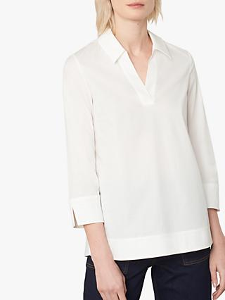Jaeger Collared Cotton Tunic, White
