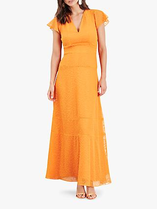 Damsel in a Dress Evadine Embroidered Maxi Dress, Orange