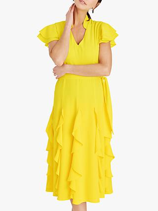 Damsel in a Dress Cemile Frill Midi Dress, Yellow