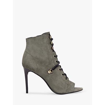 AllSaints Joanna Stiletto Lace Up Open Toe Ankle Boots