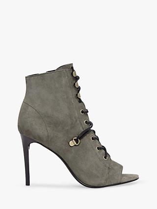 AllSaints Joanna Stiletto Lace Up Open Toe Ankle Boots