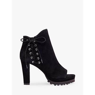 AllSaints Michela Suede Open Toe Boots, Black