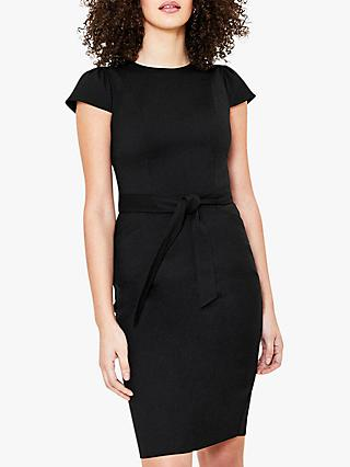 Oasis Tailored Workwear Knee Length Dress, Black