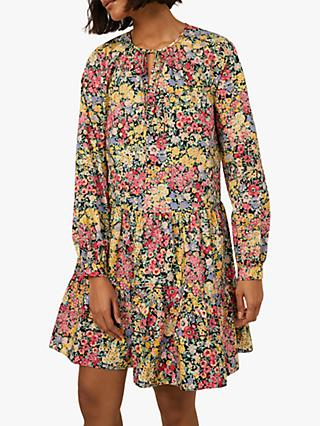 Warehouse Floral Mini Dress, Multi