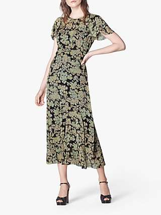 L.K. Bennett Amelia Maxi Dress, Black/Multi