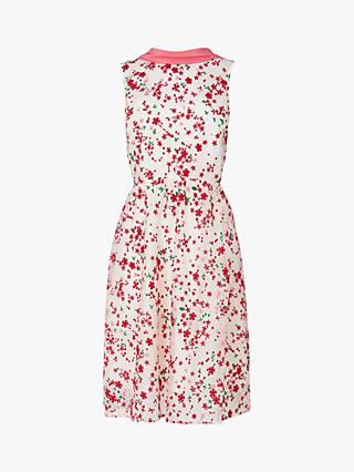 L.K.Bennett Rita Floral Print Tie Back Silk Dress, Multi