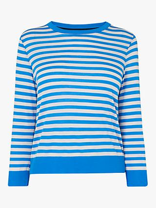 L.K.Bennett Essie Stripe Top, Blue