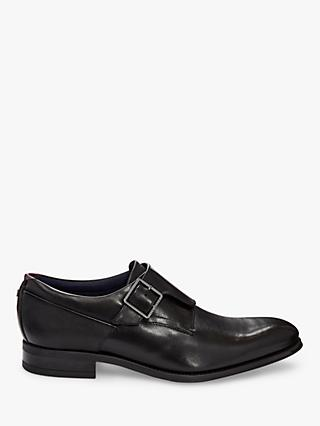 Ted Baker Carmo Leather Monk Shoes, Black
