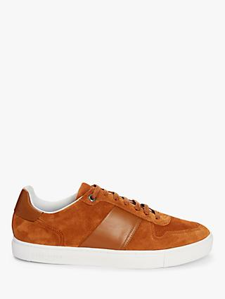 Ted Baker Cobbol Branded Suede Trainers, Tan