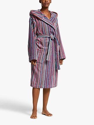 John Lewis & Partners Stripe Unisex Bath Robe, Multi