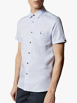Ted Baker Havefun Linen Blend Short Sleeve Shirt