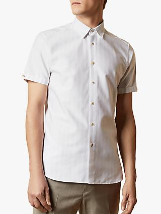 Ted Baker Handeez Dotted Stripe Short Sleeve Shirt
