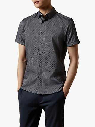 Ted Baker Namasty Short Sleeve Geo Print Shirt
