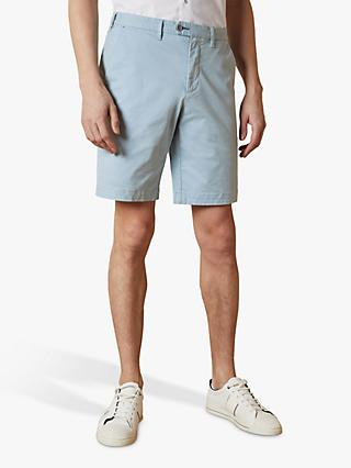 Ted Baker Buenose Cotton Chino Shorts, Light Blue
