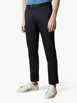 Ted Baker Smile Slim Fit Satin Finish Chino Trousers