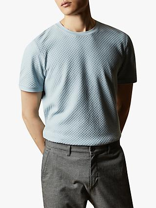 Ted Baker Caramel Textured Cotton T-Shirt