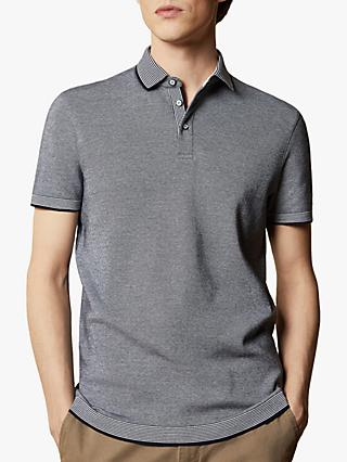Ted Baker Lateone Striped Collar Polo Shirt