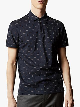 Ted Baker Mixing Printed Cotton Polo Shirt