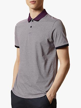 Ted Baker Caffine Striped Cotton Polo Shirt