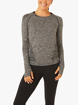 M Life Long Sleeve Yoga Top, Black
