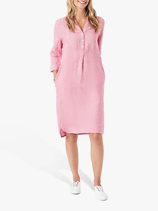 Brora Fine Stripe Linen Tunic, Watermelon