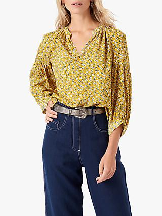Brora Liberty Floral Blouse, Maize Flower