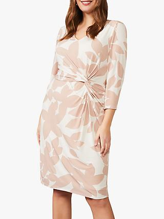 Studio 8 Lana Leaf Print Dress, Praline/Ivory