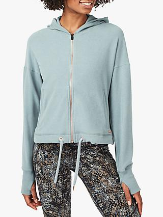 Sweaty Betty Sanctuary Luxe Hoodie, Storm Blue